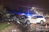 Водитель во время обгона врезался в другой автомобиль: в ДТП под Кривым Рогом погибла женщина и госпитализированы двое детей