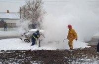 В Днепропетровской области на ходу загорелась «Таврия»