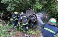 В Кривом Роге автомобиль съехал с дороги и влетел в дерево: погиб водитель и пассажир