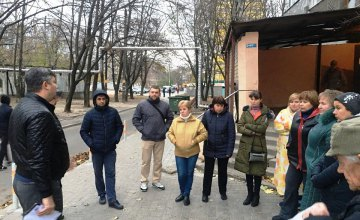 В Днепре представители партии «ОП - За життя» провели встречу и пообщались с жителями ж/м Тополь (ФОТО)