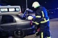 ДТП в Павлограде: спасатели вытащили водителя «Daewoo Lanos» из искореженного авто