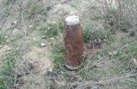 Под Павлоградом мужчина обнаружил артиллерийский снаряд и миномётную мину