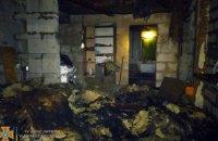 В Днепровском районе сгорел  одноэтажный жилой дом