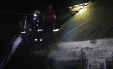 В Павлоградском районе горело заброшенное здание
