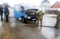 В Днепропетровской области на ходу загорелся грузовик