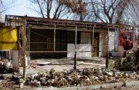 В Днепре демонтировали очередною наливайку - незаконную постройку с элементами капитального строения