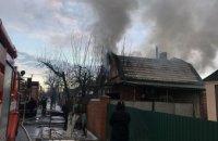 В частном доме Кривого Рога загорелась крыша