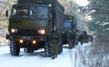 Водители-армейцы провели 70-километровый марш по области (ФОТО)