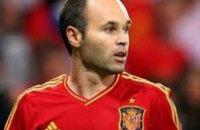 Испанский полузащитник Андрес Иньеста признан лучшим футболистом Евро-2012