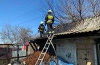 В Днепре в частном доме произошел пожар: огонь уничтожил 60 кв.м.