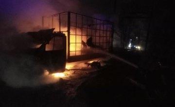 На Днепропетровщине на остановке загорелся грузовик