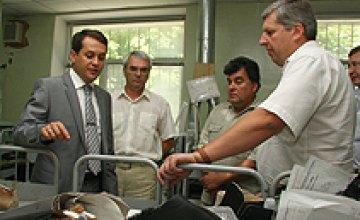 Днепропетровский протезный завод получил новую фитнес-станцию