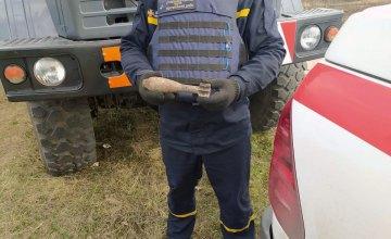 В Васильковском районе мужчина во время прогулки наткнулся на снаряд