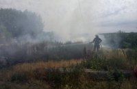 В Днепре произошел пожар на нелегальной свалке (ФОТО)