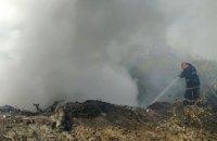 На Днепропетровщине горит свалка: огнем уничтожено 300 кв. метров
