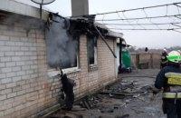 В Днепровском районе горел частный сектор