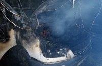 Утром в Никопольском районе загорелся автомобиль (ФОТО)