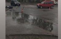 На ул.Байкальской в Днепре сбили мотоциклиста: движение затруднено (ФОТО)