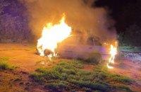 Ночью в Кривом Роге на временной стоянке сгорело авто (ФОТО)