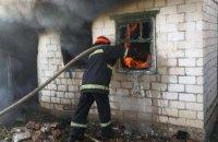 На Днепропетровщине рано утром загорелась летняя кухня в частном доме