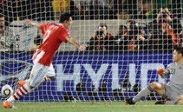 В 1/4 финала ЧМ-2010 матч Уругвай Гана закончился со счетом 4:2