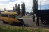 В Новомосковске маршрутка влетела в грузовик: пострадали 15 человек