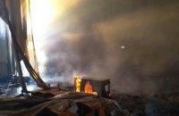 На Днепропетровщине сгорело неэксплуатируемое помещение: огонь уничтожил 300 м кв.