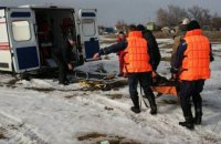 На Днепропетровщине мужчина провалился под лед (ФОТО)