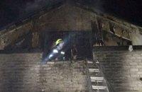 В Днепре горел двухэтажный жилой дом: есть пострадавшие