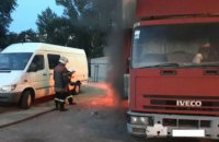 В Полтавской области загорелся грузовик (ФОТО)