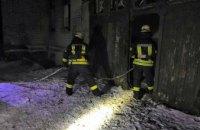 В Першотравенске пожарные ликвидировали возгорание в заброшенном здании