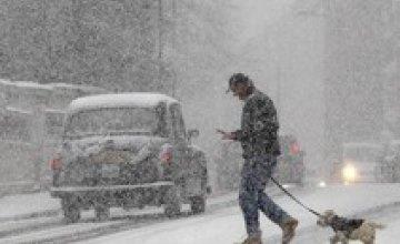 Москву засыпало снегом (ВИДЕО)