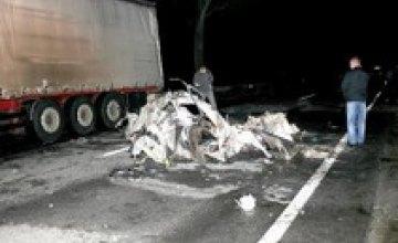На киевской трассе сгорел инспектор ГАИ