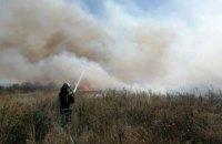 В Никопольском районе пожарные ликвидировали возгорание сухой травы