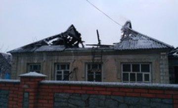 В Кривом Роге во время пожара в частном доме пострадал пенсионер