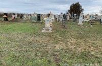 На Днепропетровщине мужчина из-за неприязни к односельчанке разбил кирпичом надгробие её родственницы
