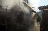 В Днепре на территории частного дома произошел пожар