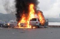 В Киеве взорвался автомобиль (ФОТО)