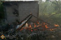 В Терновке полностью сгорела хозпостройка