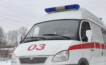В Софиевке спасатели вытянули из сугроба автомобиль «скорой помощи»