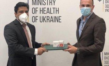 Индия передала Украине 50 тыс. капсул препарата для борьбы с COVID-19