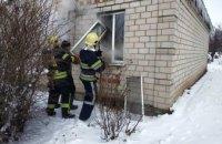 В Петриковском районе горел одноэтажный жилой дом