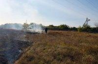 В Синельниковском районе выгорело 4 га сухой травы