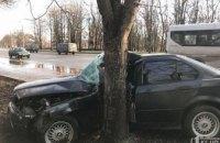 На Днепропетровщине BMW влетел в дерево: есть пострадавшие