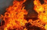 В Днепре на проспекте Труда возник пожар на  производственном предприятии  (ФОТО)