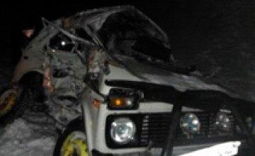 В Черниговской области поезд протаранил джип: два человека погибли