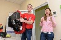 Школам Днепра передали комплекты светоотражающих жилетов (ФОТО)