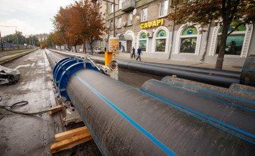 В Днепре переносят сети инфраструктуры со строительной площадки станции метро «Театральная»