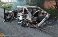 В Синельниковском районе дотла сгорела машина (ФОТО)