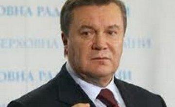 Янукович поздравил украинцев с Крещением